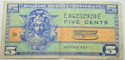 SERIES 521 $.25 MILITARY SCRIPT E04232920E