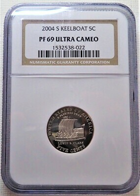 2004 S 5 CENT JEFFERSON (KEELBOAT) NGC PF 69 ULTRA CAMEO 1532538 022