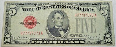1928 F  $5 UNITED STATES NOTE