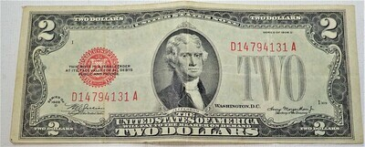 1928 D  $2 UNITED STATES NOTE D14794131A