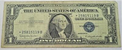 1957 B  $1 SILVER CERTIFICATE (STAR NOTE) 25815119B