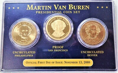 2008 D, P, S $1  PRESIDENTIAL SET (MARTIN VAN BUREN) (FIRST DAY ISSUE )