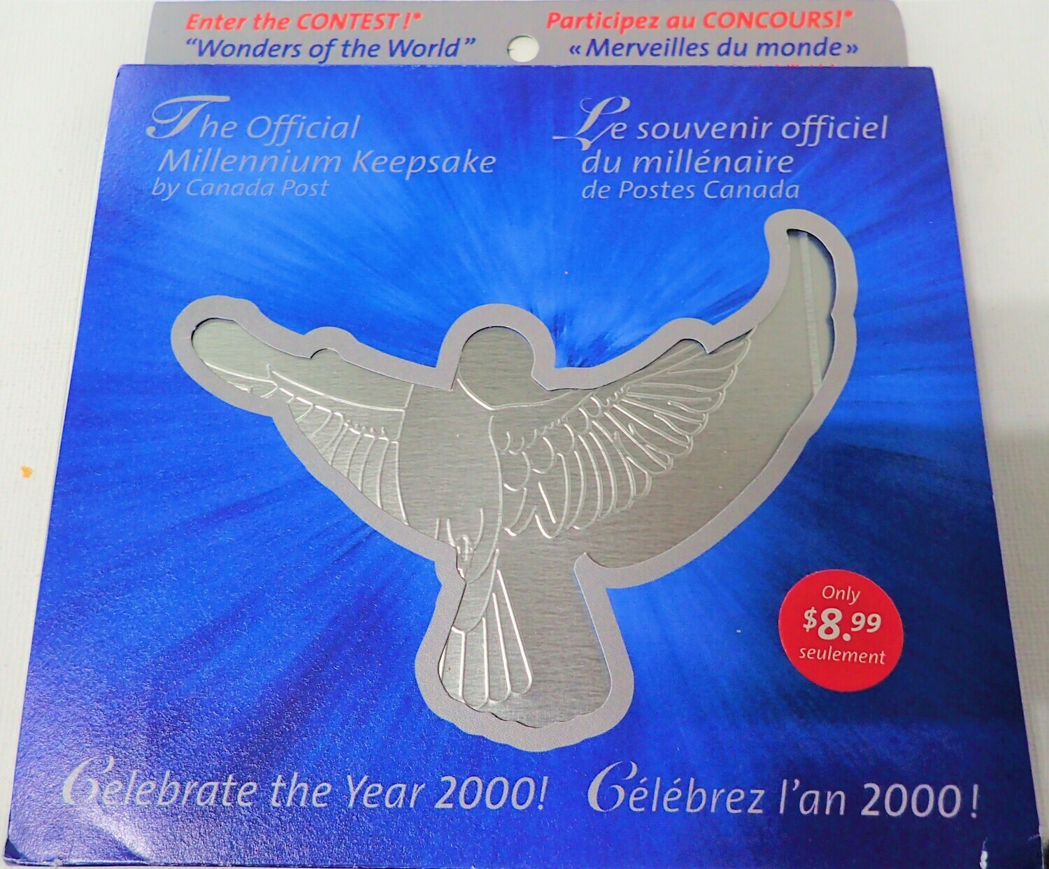 2000 OFFICIAL MILLENNIUM KEEPSAKE BY CANADA POST OFFICE