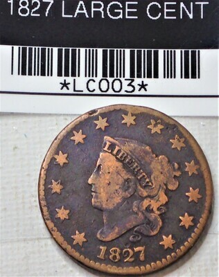 1827 LARGE CENT LC003