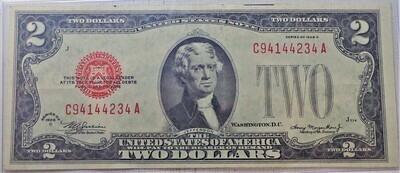 1928 D $2 UNITED STATES NOTE C941442334A