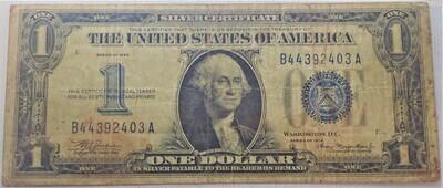 1934 $1 SILVER CERTIFICATE B44392403A