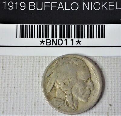 1919  BUFFALO NICKEL  BNO11