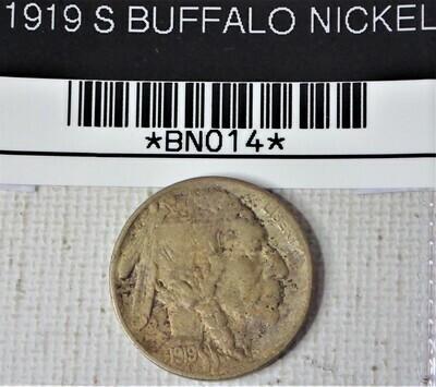 1919 S BUFFALO NICKEL  BNO14