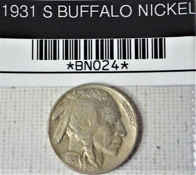 1931 S BUFFALO NICKEL  BNO24