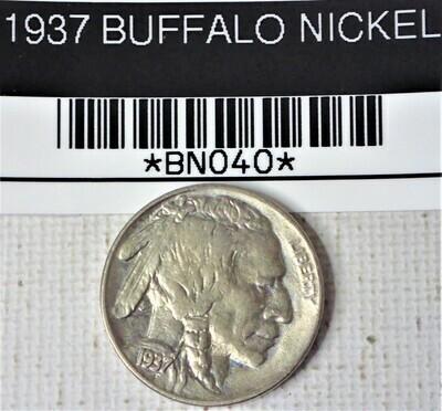 1937 BUFFALO NICKEL  BNO40