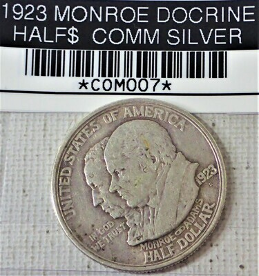 1923 S MONROE DOCTRINE HALF $ COMM (SILVER) COM007