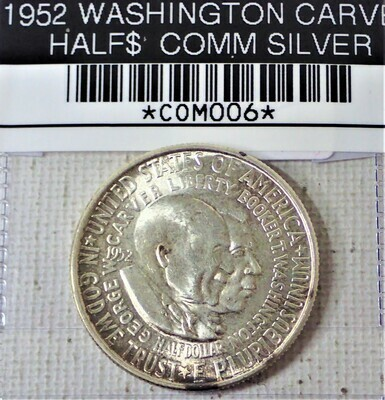 1952 WASHINGTON CARVER HALF $ COMM (SILVER) COM006