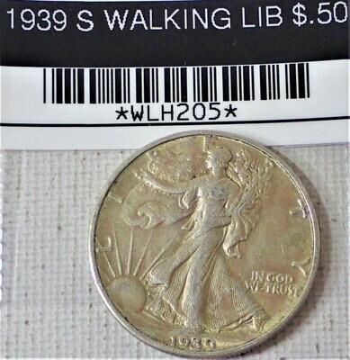 1939 S WALKING LIB $.50 WLH205