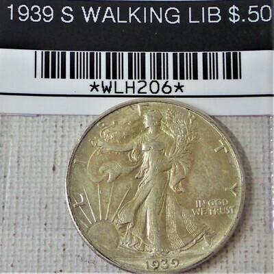 1939 S WALKING LIB $.50 WLH206