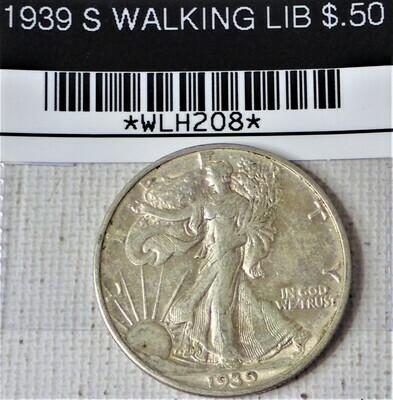 1939 S WALKING LIB $.50 WLH208