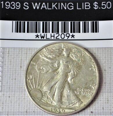 1939 S WALKING LIB $.50 WLH209