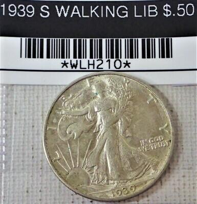 1939 S WALKING LIB $.50 WLH210