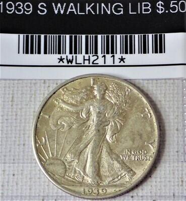 1939 S WALKING LIB $.50 WLH211