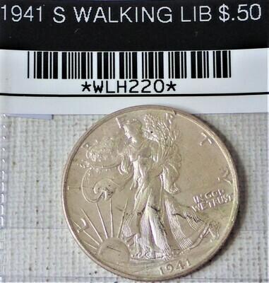 1941 S WALKING LIB $.50 WLH220
