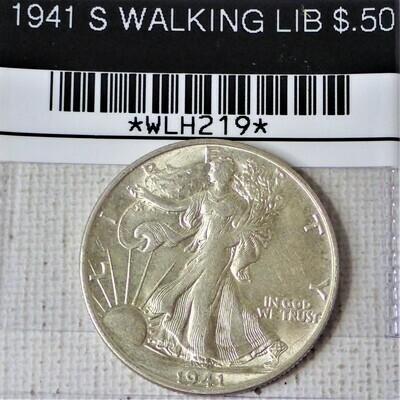 1941 S WALKING LIB $.50 WLH219