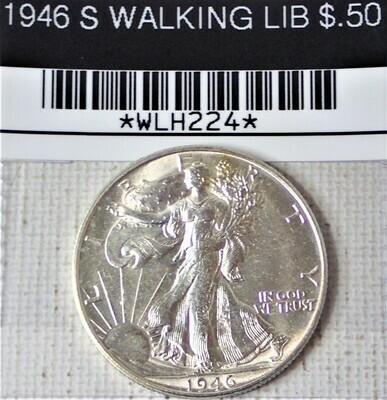 1946 S WALKING LIB $.50 WLH224