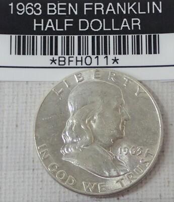 1963  BEN FRANLIN HALF DOLLAR (SILVER) BFH011