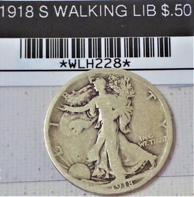 1918 S WALKING LIB $.50 WLH228