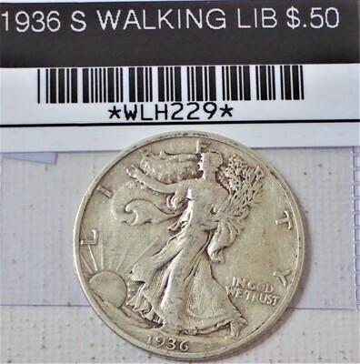1936 S WALKING LIB $.50 WLH229