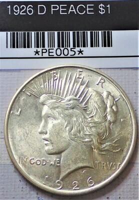 1926 D PEACE $1 PE005