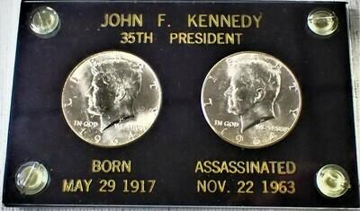 1964 P D JOHN F KENNEDY SILVER HALF DOLLAR JFK001