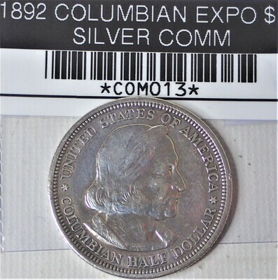 1892 COLOMBIAN EXPO $.50 SILVER COMM COM013