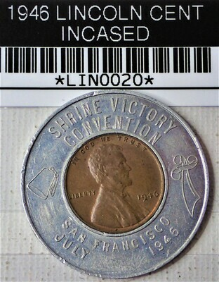 1946 LINCOLN CENT ENCASED LIN0020
