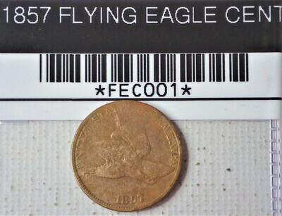 1857 FLY EAGLE CENT FEC001
