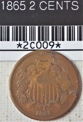 1865 TWO CENT 2C009