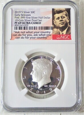 2019 S JFK HALF DOLLAR (SILVER EARLY RELEASE) NGC PF 69 ULTRA CAMEO 4965343 023