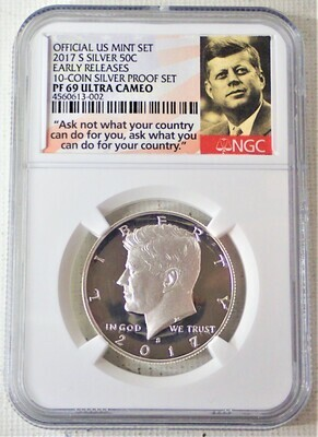 2017 S JFK HALF DOLLAR (SILVER EARLY RELEASE) NGC PF 69 ULTRA CAMEO 4560613 002