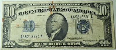 1934  $10.OO SILVER CERTIFICATE A62648339A