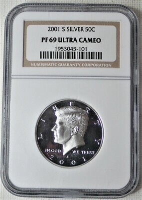 2001 S JFK $.50 (SILVER) NGC PF 69 ULTRA CAMEO 1953045 101