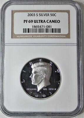2003 S JFK $.50 (SILVER) NGC PF 69 ULTRA CAMEO 1865471 081