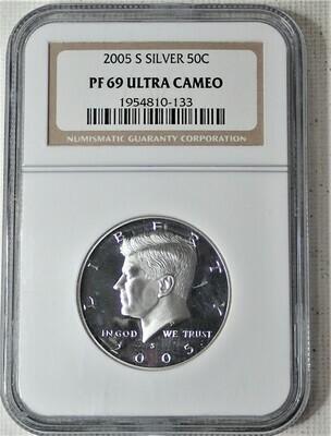 2005 S JFK $.50 (SILVER) NGC PF 69 ULTRA CAMEO 1954810 133