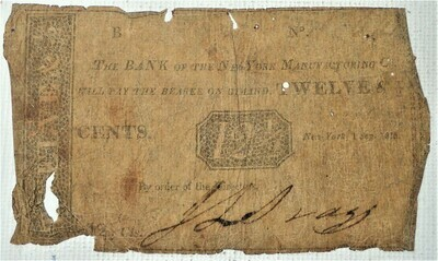1815 12.5 CENTS BANK OF NEW YORK MANUFACTURING COMPANY