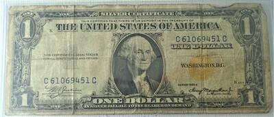 1935 A $1 SILVER CERTIFICATE (NORTH AFRICA) C61069451C