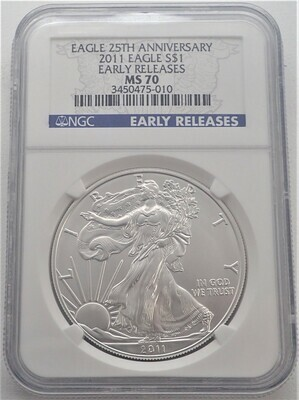 2011 AMERICAN EAGLE  (EARLY RELEASES) NGC MS70 3450475 010