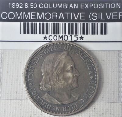 1892 S $.50 COLOMBIAN EXPOSITION COMMEMORATIVE (SILVER) COM015