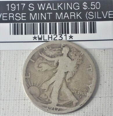 1917 S WALKING LIB $.50 OBVERSE MINT MARK (SILVER) WLH231