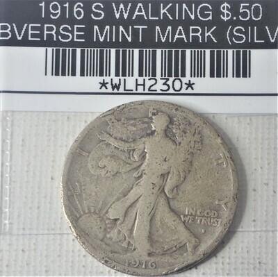 1916 S WALKING LIB $.50 OBVERSE MINT MARK (SILVER) WLH230