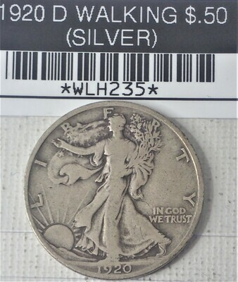 1920 D WALKING LIB $.50 (SILVER) WLH235
