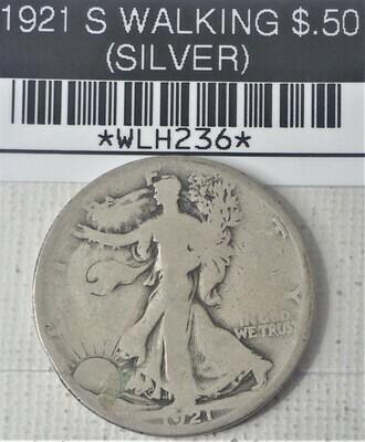 1921 S WALKING LIB $.50 (SILVER) WLH236