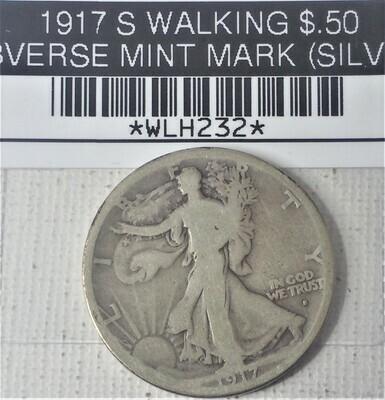 1917 S WALKING LIB $.50 OBVERSE MINT MARK (SILVER) WLH232