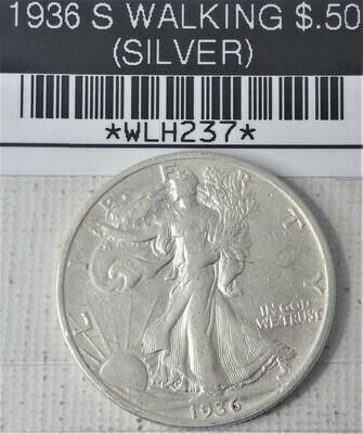 1936 S WALKING LIB $.50 (SILVER) WLH237
